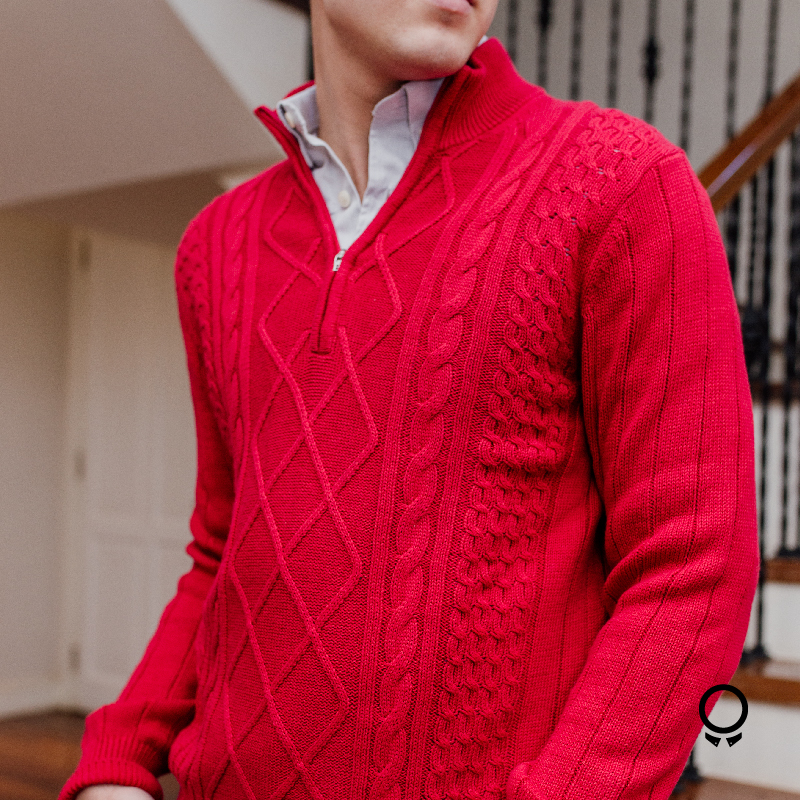 SWEATER IZOD CUELLO RED ROJO