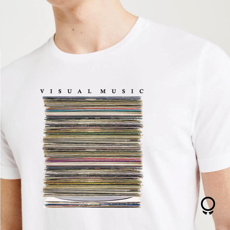 REMERA ABERCROMBIE BLANCA VISUAL MUSIC