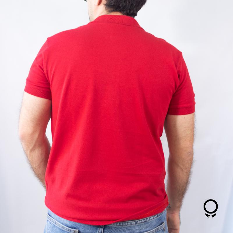 REMERA LIBERATO BASICS CUELLO POLO ROJO