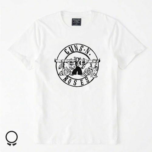 Remera Abercrombie Blanca Estampa Guns And Roses