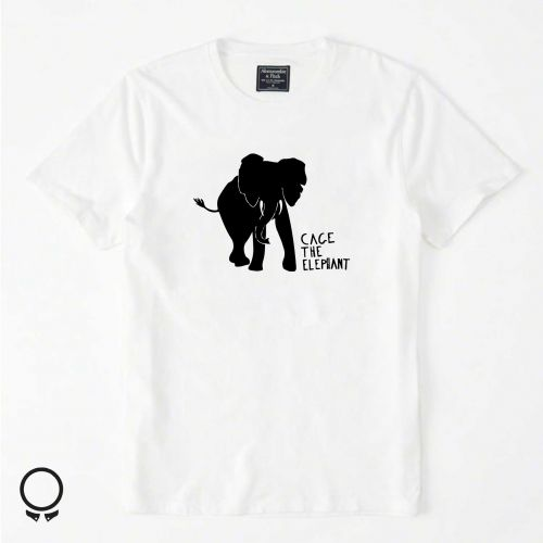 Remera Abercrombie Blanca Estampa Cace The Elephant