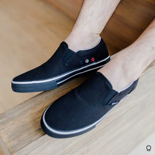 Alpargata Tommy Hilfiger Jeans Slip On Black